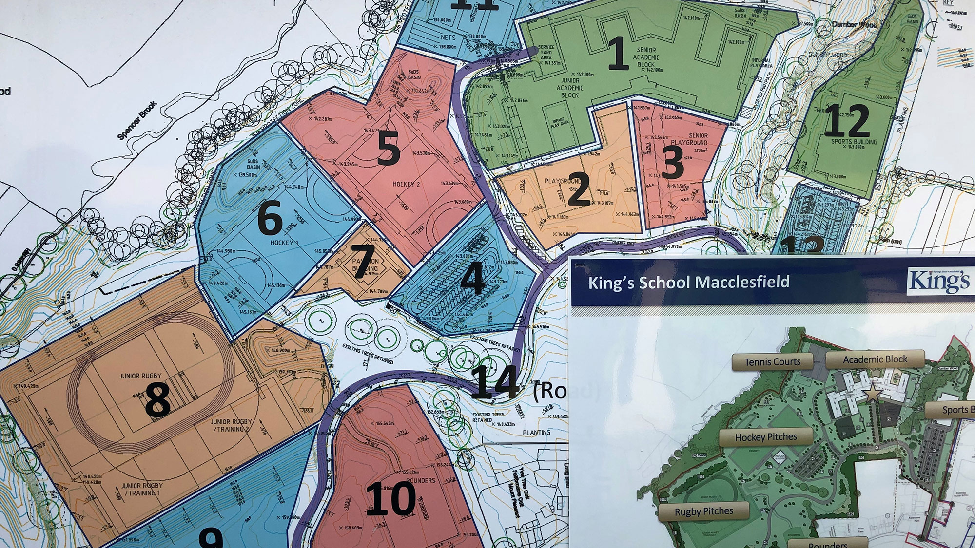 Kings School Macclesfield map